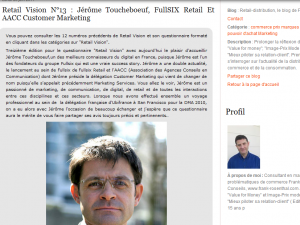 Interview Jerome Toucheboeuf retail vision