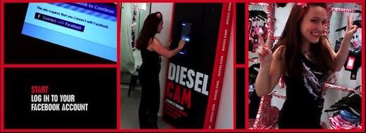 borne tactile facebook diesel cam