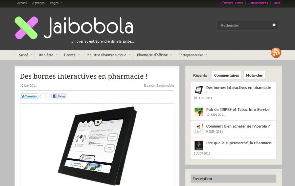 capture écran du billet sur les bornes interactives en pharmacie de Jailbobola