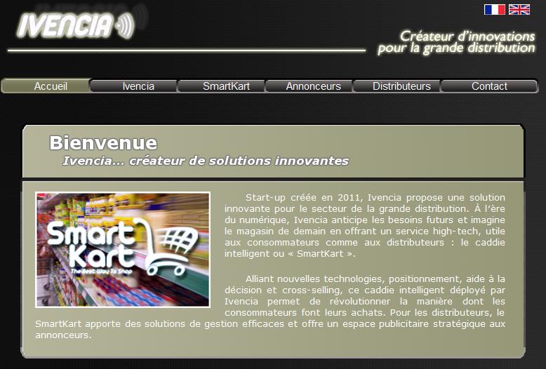 capture de la page d'accueil du site invencia.fr