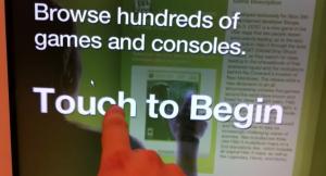 Bornes tactiles connectes magasins target