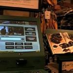 Ecrans connectés au web dans les magasins Cabela's