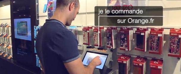 Des écrans connectés dans certaines boutiques Orange
