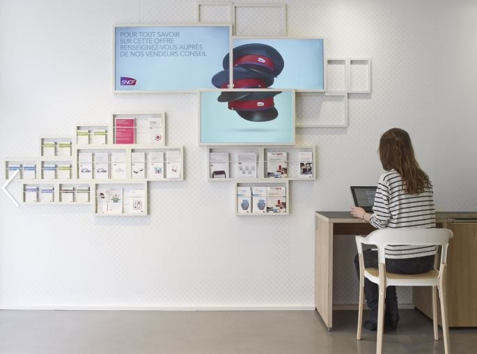 """Nouveau concept """"magasin connecté"""" chez SNCF"""