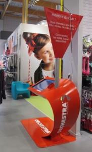 Dispositif connecté installé dans les magasins Orchestra.