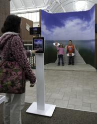 Expérience ludique grâce à des iPads connectés au web chez Scheels