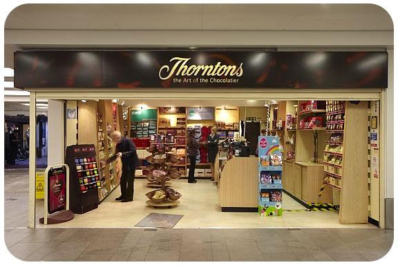 L'enseigne Thorntons équipe 3 magasins d'écrans connectés au web