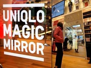 le miroir connecté Magic Mirror de l'enseigne Uniqlo