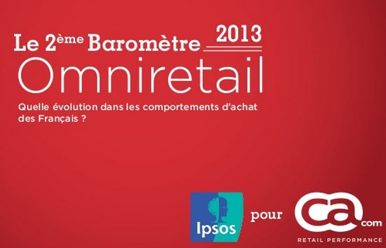 Omniretail, commerce connecté, baromètre Ipsos CA Com