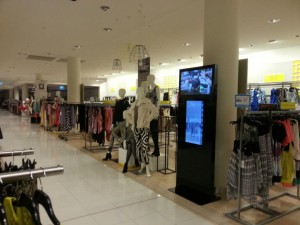 David Jones : installation d'un miroir interactif dans un magasin de Melbourne