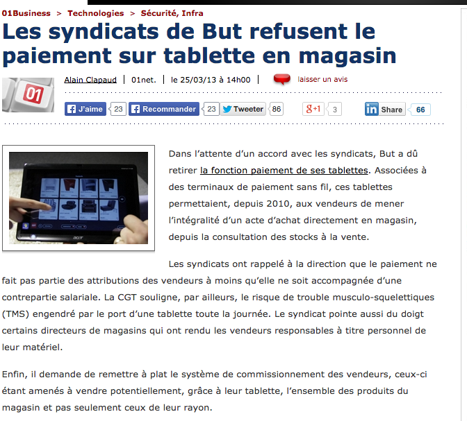 Tablettes Tactiles Syndicats But