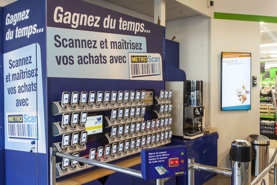 Métro self-scanning