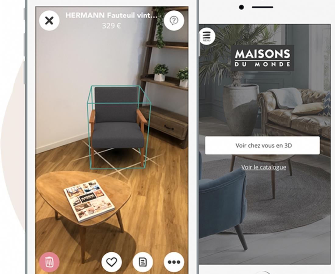 Maisons Du Monde, une application au service du 3D