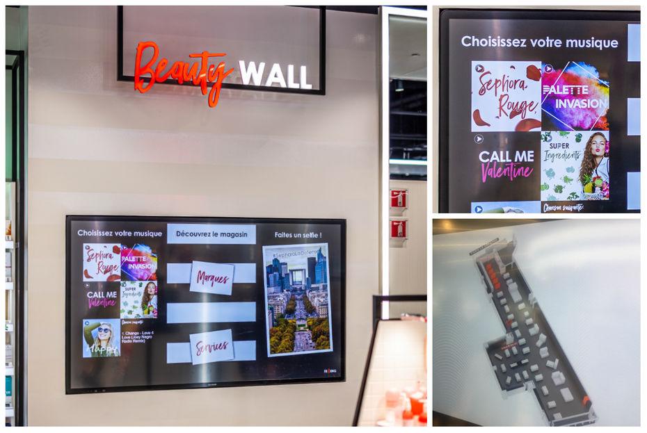 Beauty Wall, mur beauté ludique et connecté