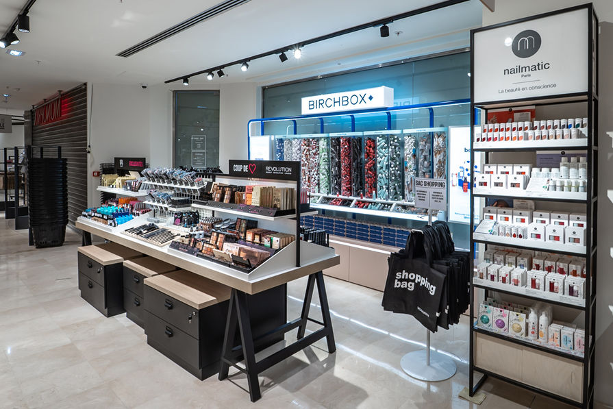 Monoprix, beauté, birchbox et shop-in-shop