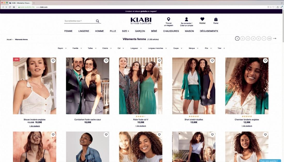 KIABI, un site web en constante évolution