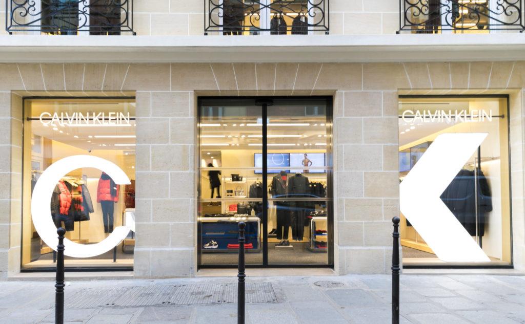 Le flagship Calvin Klein dans le Marais parisien