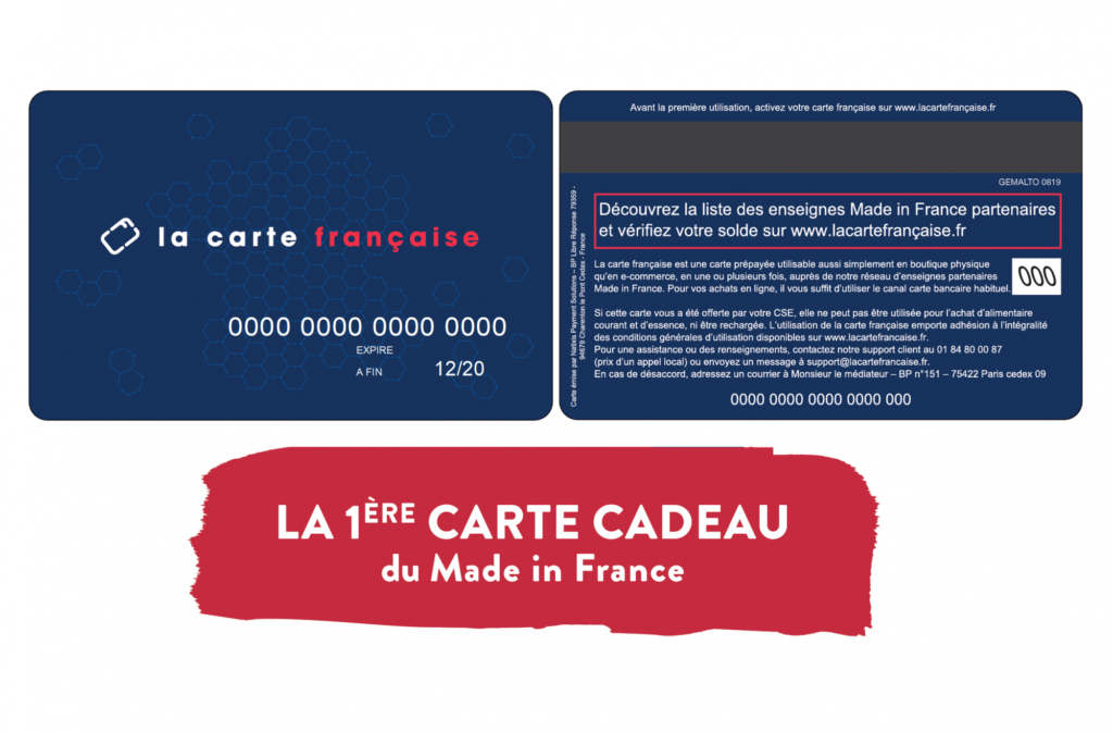 La carte cadeau Made In France