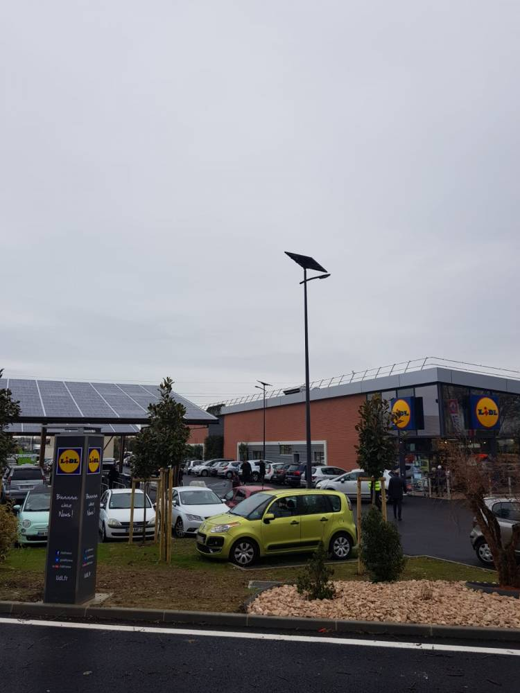 Le premier supermarché à énergie positive de Lidl