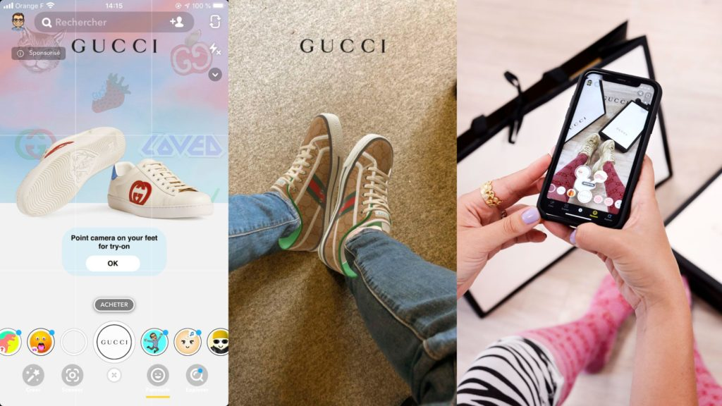 Gucci, des chaussures en réalité augmentée