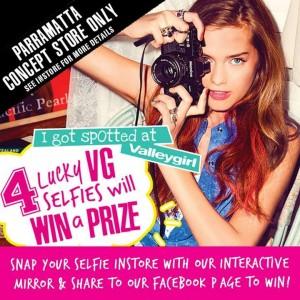 Concours organisé par l'enseigne Valley Girl pour promouvoir le miroir interactif et connecté