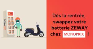 Monoprix et Zeway facilitent la vie des parisiens